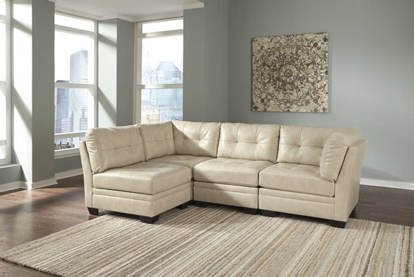 Khalil DuraBlend Contemporary Taupe Sectional 61804-SEC1