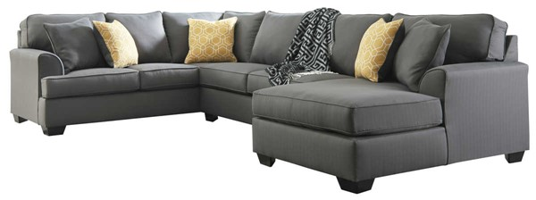 Ashley Furniture Brioni Nuvella Gray Raf Chaise Sectional