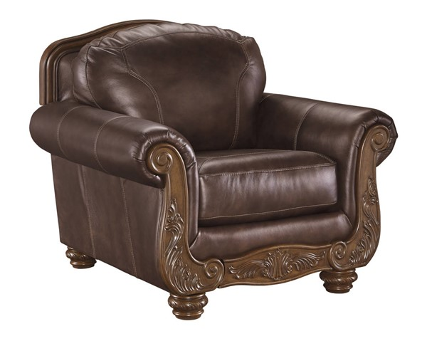 Mellwood Traditional Walnut Solid Wood Leather Chair 6460520