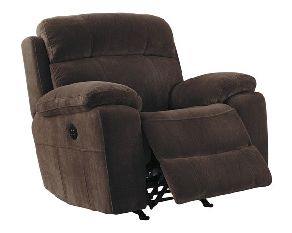 Uhland Contemporary Chocolate Fabric Power Recliner 6480313