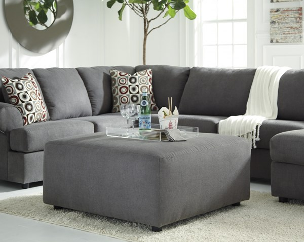Jayceon Contemporary Steel Fabric Oversized Accent Ottoman 6490208