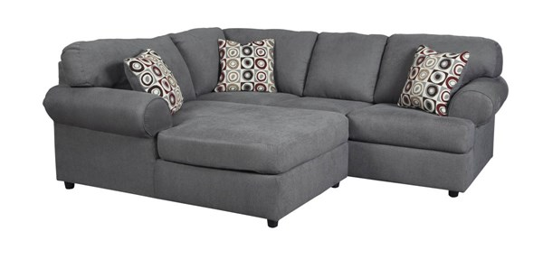 Jayceon Contemporary Steel Fabric Sectional W/RAF Sofa & LAF Chaise 64902-SEC2