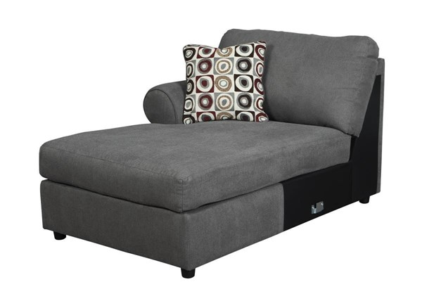 Jayceon Contemporary Steel Fabric LAF Corner Chaise 6490216