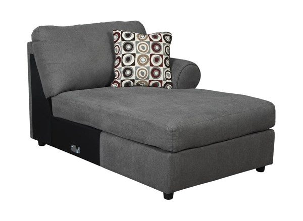 Jayceon Contemporary Steel Fabric RAF Corner Chaise 6490217