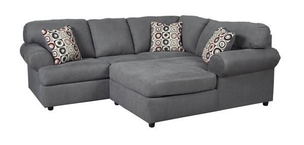 Jayceon Contemporary Steel Fabric Sectional W/LAF Sofa & RAF Chaise 64902-SEC1