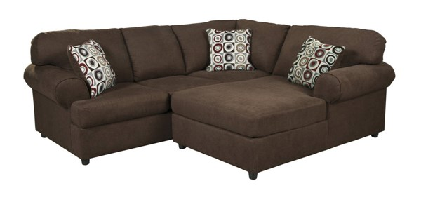 Jayceon Contemporary Java Fabric Cushion Back Sectionals 64904-SEC-VAR1