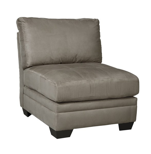Iago Contemporary Cobblestone Fabric Solid Wood Armless Chair 6510346
