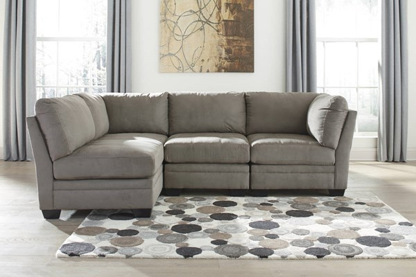 Iago Contemporary Cobblestone Fabric Solid Wood Sectional 65103-SEC
