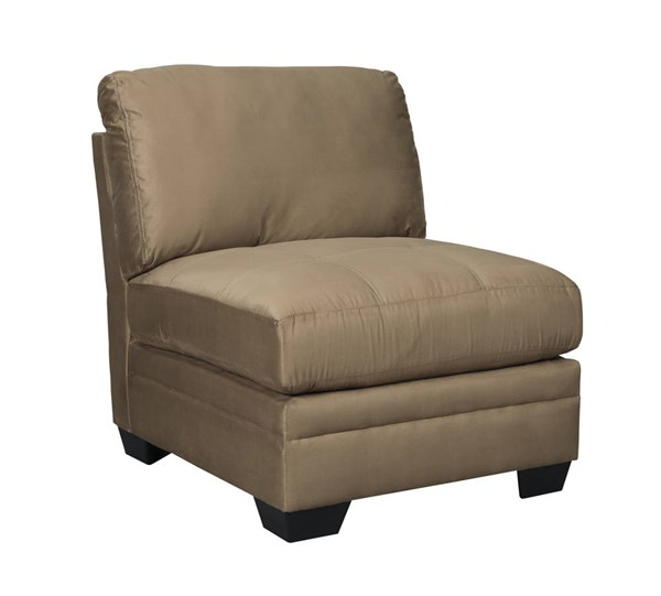 Iago Contemporary Mocha Fabric Solid Wood Armless Chair 6510546
