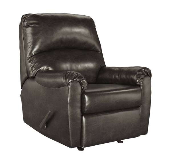 Talco Contemporary Gunmetal Faux Leather Rocker Recliner 6550225