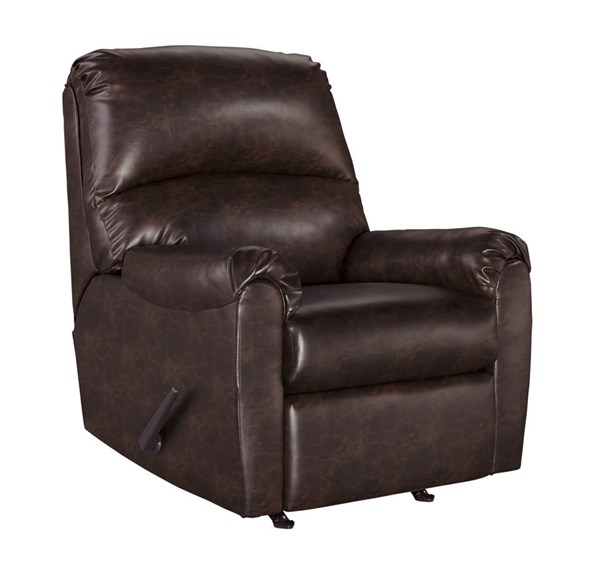 Talco Contemporary Burgundy Faux Leather Rocker Recliner 6550325