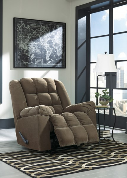 Brareus Contemporary Cafe Stone Chocolate Fabric Rocker Recliners BRAREUS-VAR1