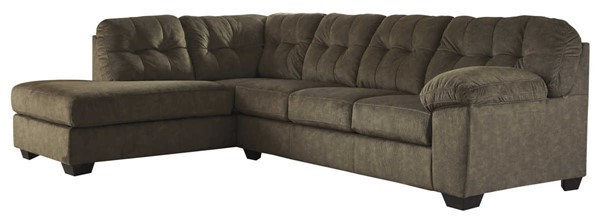 Ashley Furniture Accrington Earth LAF Chaise Sectionals ACCRINGTON-VAR17