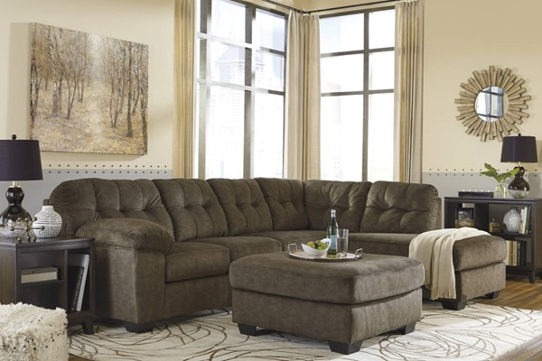 Ashley Furniture Accrington Earth RAF Chaise and Ottoman Sectionals ACCRINGTON-VAR18