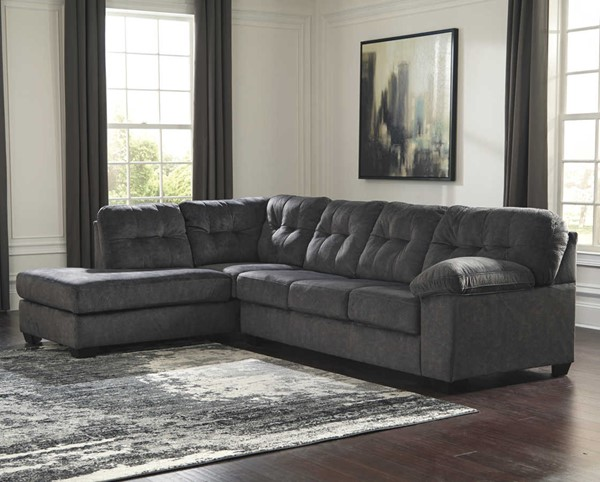 Ashley Furniture Accrington Granite Laf Chaise Sectional