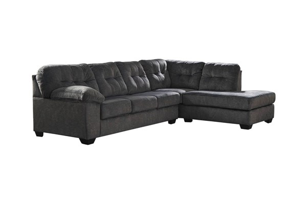 Ashley Furniture Accrington Granite RAF Chaise Sectional 70509-SEC1