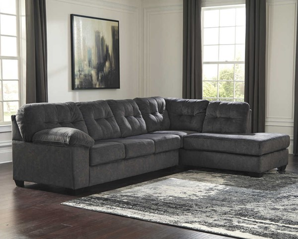 Ashley Furniture Accrington Granite Raf Chaise Sectional