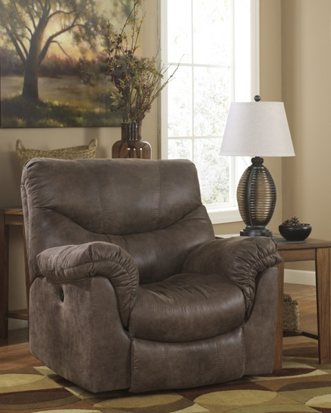 Alzena Gunsmoke Faux Leather Power Rocker Recliner 7140098
