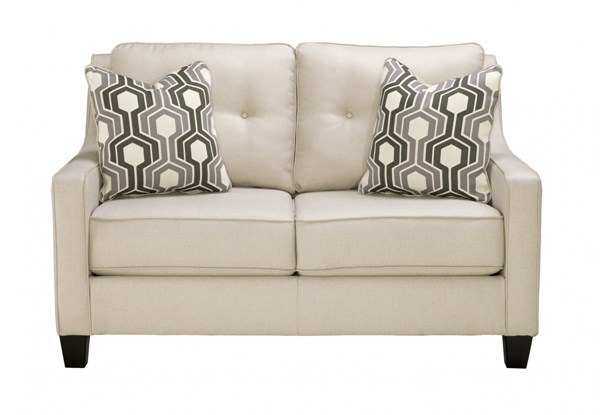 Guillerno Contemporary Alabaster Fabric Loveseat 7180135