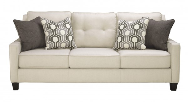 Guillerno Contemporary Alabaster Fabric 3pc Living Room Set 71801-LR-S1