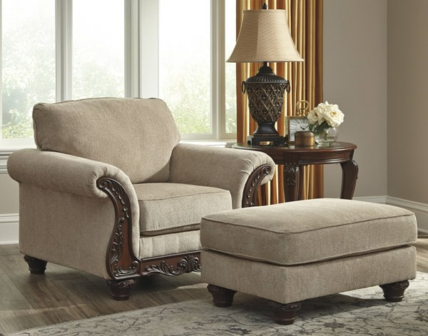 Laytonsville Traditional Classics Pebble Chair & Ottomans Set 72002-CHO
