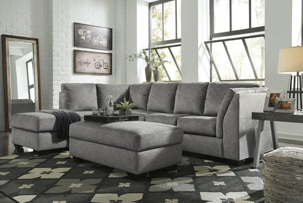 Ashley Furniture Belcastel Ash LAF Chaise And Ottoman