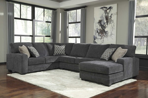 Ashley Furniture Tracling Slate Sectional With Raf Chaise
