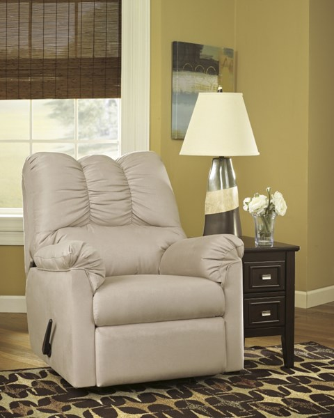 Darcy Contemporary Stone Fabric Rocker Recliner 7500025