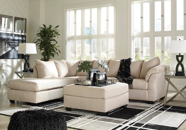 Ashley Furniture Darcy RAF Sectionals With Ottomans 7500X-SEC4-VAR