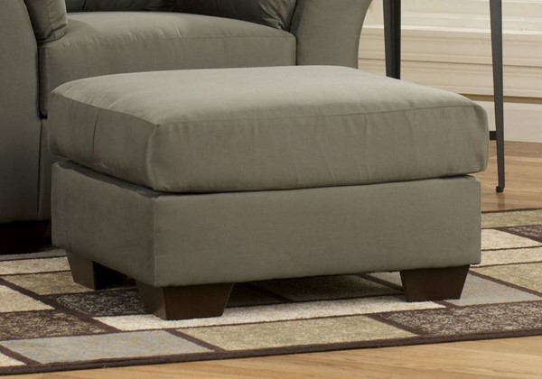 Darcy Contemporary Sage Fabric Rectangle Ottoman 7500314