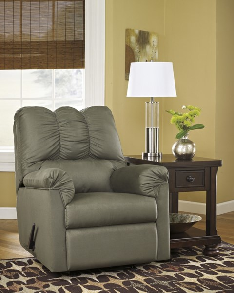 Darcy Contemporary Sage Fabric Rocker Recliner 7500325