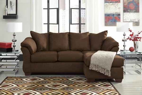 Darcy Contemporary Cafe Wood Right Facing Sofa Chaise 7500418
