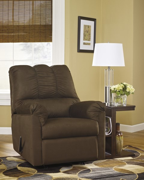 Darcy Contemporary Cafe Fabric Rocker Recliner 7500425
