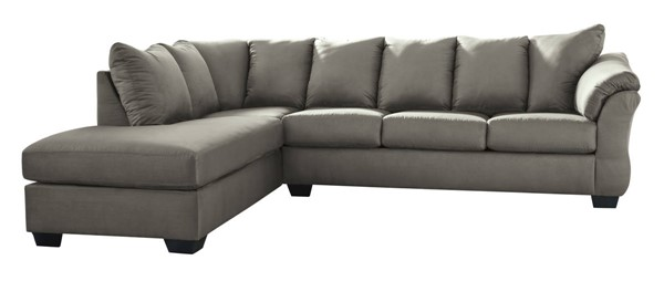 Ashley Furniture Darcy Cobblestone LAF Sectional 75005-SEC1