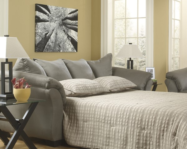 Ashley Furniture Darcy Cobblestone Full Sofa Sleeper 7500536