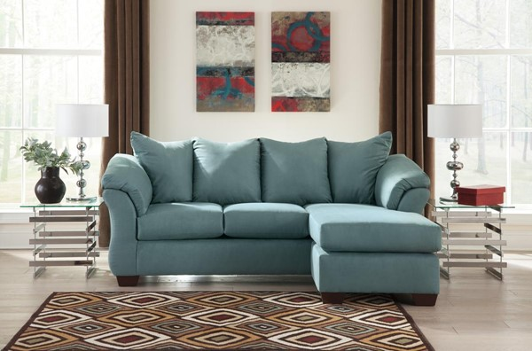 Ashley Furniture Darcy Sky Sofa Chaise 7500618
