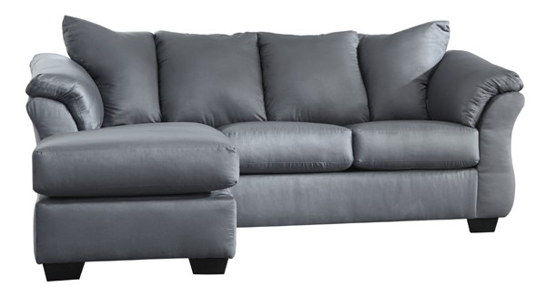 Ashley Furniture Darcy Steel Fabric Sofa Chaise 7500918