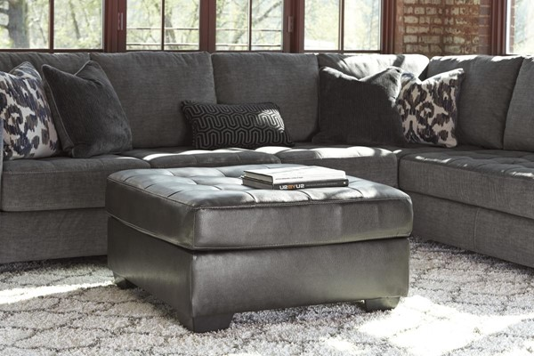Owensbe Accent Contemporary Charcoal Oversized Accent Ottoman 751XX08