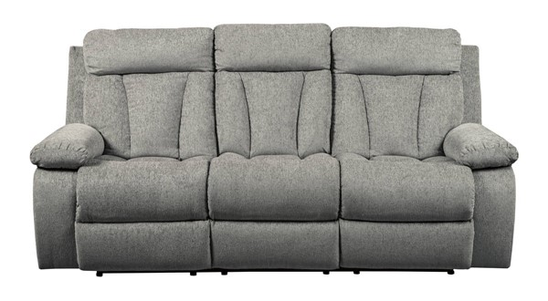 Ashley Furniture Mitchiner Fog Reclining Sofa With Drop Down Table 7620489