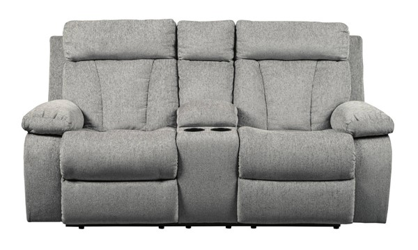 Ashley Furniture Mitchiner Fog Double Reclining Console