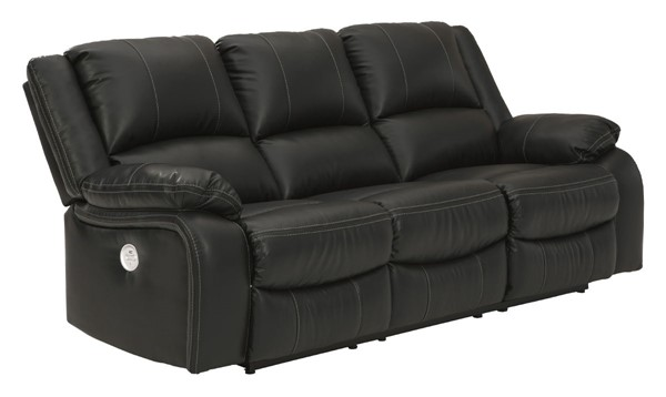 Ashley Furniture Calderwell Black Reclining Power Sofa 7710187