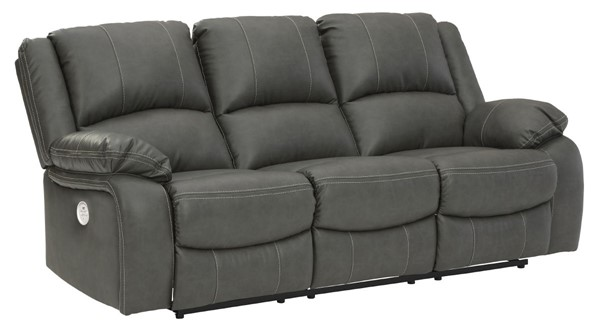 Ashley Furniture Calderwell Gray Reclining Power Sofa 7710387