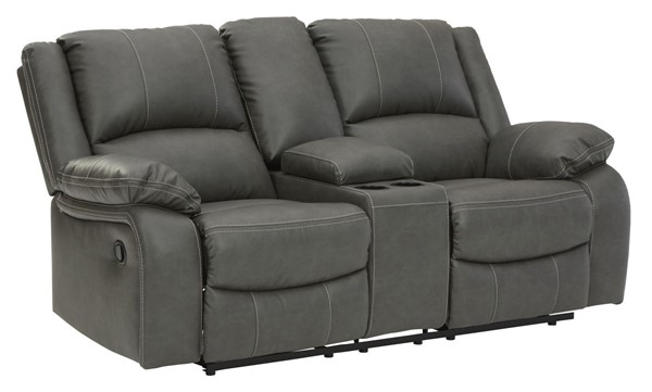 Ashley Furniture Calderwell Gray Double Reclining Console Loveseat 7710394