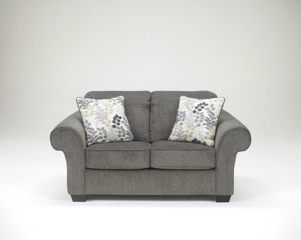 Makonnen Contemporary Charcoal Fabric Loveseat 7800035
