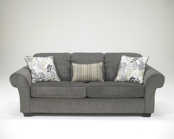 Makonnen Contemporary Charcoal Fabric Sofa 7800038
