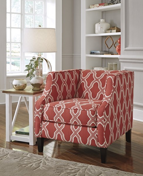 Sansimeon Traditional Classics Coral Fabric Wood Accent Chair 7990422