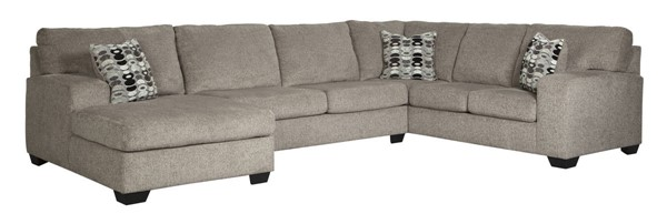 Ashley Furniture Ballinasloe Platinum Left Side Chaise Sectional 80702-SEC2