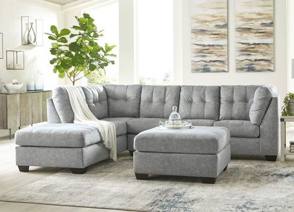 Ashley Furniture Falkirk Fabric 3pc Sectionals With LAF Chaise 80804-SEC-S-VAR3