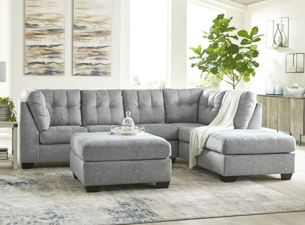 Ashley Furniture Falkirk Fabric 3pc Sectionals With RAF Chaise 80804-SEC-S-VAR4