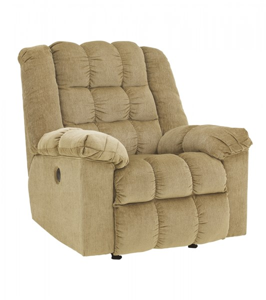 Ludden Contemporary Sand Fabric Power Rocker Recliner 8110398